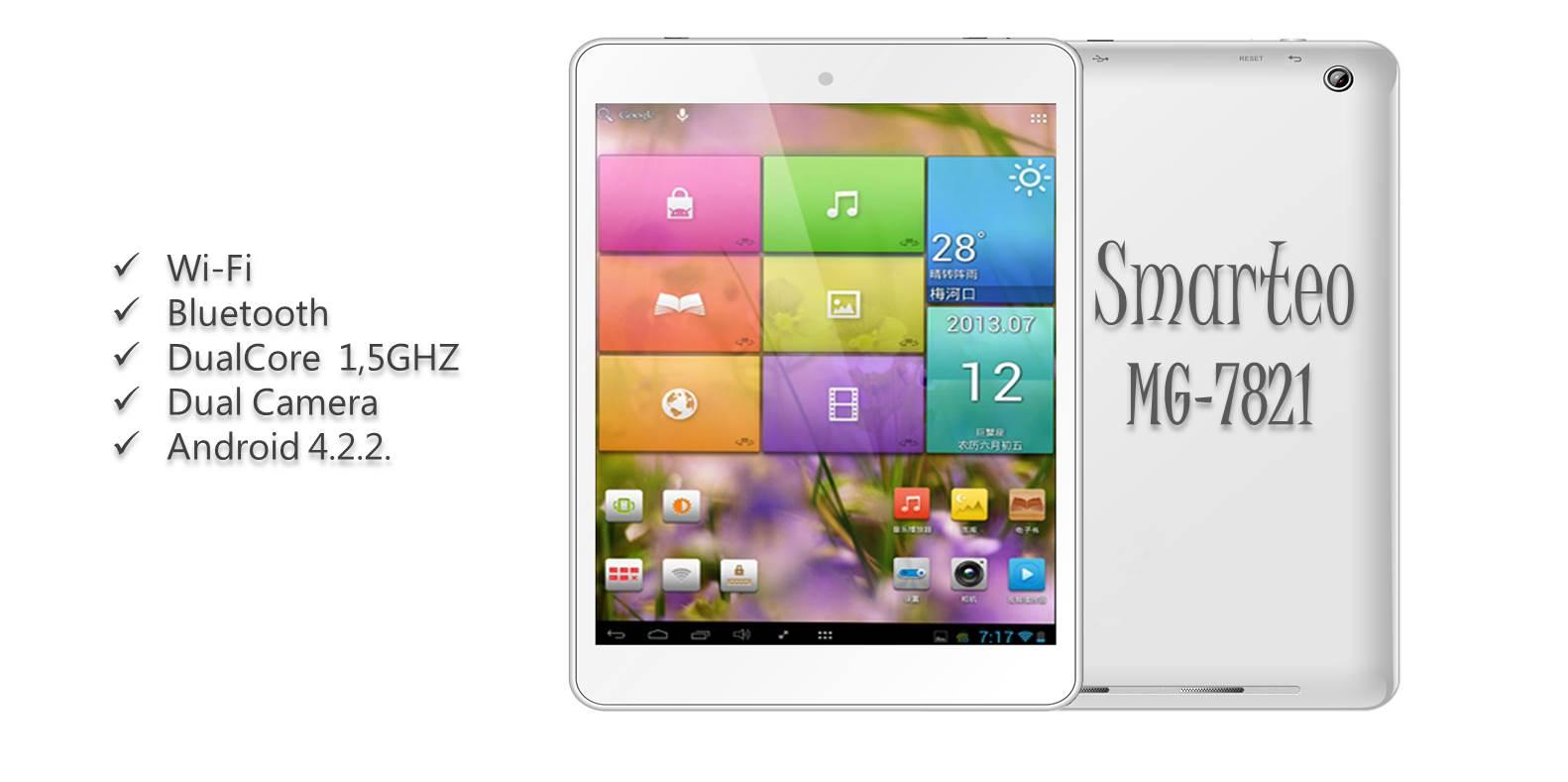 Προσφορά SaleTime - TABLET MG-7821 - Tablet Smarteo MG-7821 7,85 ιντσών με 2πύρηνο επεξεργαστή 1,5GHZ με Android OS 4.2.2 & Δώρο 1 extra προστατευτική ζελατίνα και 1 ζευγ...