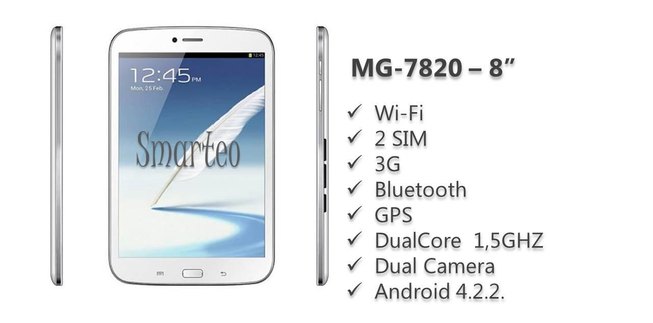 Προσφορά SaleTime - SMARTEO-MG-7820 - Ολοκαίνουργιο μοντέλο Tablet Smarteo MG-7820-3G 7,85 ιντσών- 8GB μνήμη, με 2πύρηνο επεξεργαστή 1,5GHZ, Τηλέφωνο και 3G, Βluetooth κα...